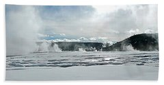 Winter At Grand Prismatic Beach Towel