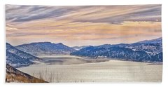 Winter At Horsetooth Reservior Beach Towel