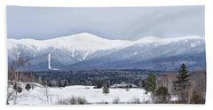Winter At Mount Washington Beach Towel by Tricia Marchlik