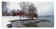 Winter At Perkins House  Beach Towel