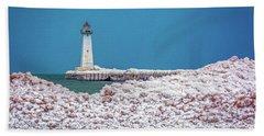 Winter At Sodus Point  Beach Sheet