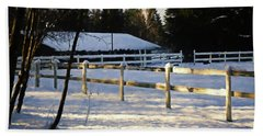 Beach Towel featuring the photograph Winter At The Farm 365-285 by Inge Riis McDonald