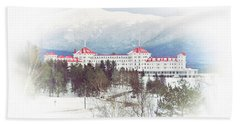 Winter At The Mt Washington Hotel 2 Beach Sheet by Tricia Marchlik