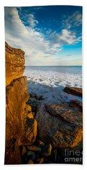 Winter Beach Sunset Beach Sheet