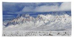 Beach Towel featuring the photograph Winter Beauties Organ Mountains by Kurt Van Wagner