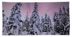 Winter Beauty Beach Sheet by Sheila Ping
