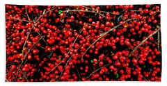 Winter Berries Beach Sheet