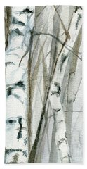 Winter Birch Beach Towel