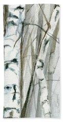 Winter Birch Beach Sheet