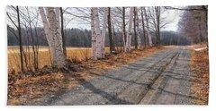 Winter Birches Beach Sheet