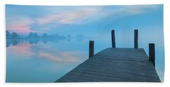 Beach Towel featuring the photograph Winter Blues by Davor Zerjav