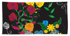 Beach Towel featuring the digital art Winter Bouquet by Kim Prowse