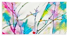 Winter Branch Colors Beach Towel