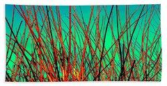 Winter Branches Beach Sheet