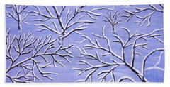 Winter Branches, Painting Beach Sheet