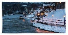 Winter Canal Walk Beach Sheet