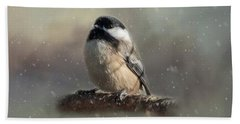 Winter Chicadee Beach Sheet