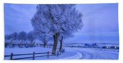 Winter Chill Beach Sheet by Lynn Hopwood