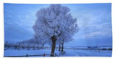 Winter Chill Version 3 Beach Sheet by Lynn Hopwood