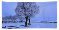 Winter Chill Version 2 Beach Sheet by Lynn Hopwood