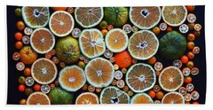 Winter Citrus Mosaic Beach Towel