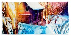 Beach Towel featuring the painting Winter Color by Hanne Lore Koehler