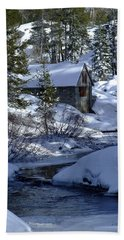 Winter Cottage Beach Towel