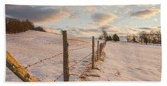 Winter Countryside Beach Sheet