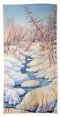 Winter Creek 1  Beach Towel by Inese Poga