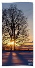 Winter, Crystal Spring Farm, Brunswick, Maine -78592 Beach Towel