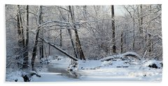 Winter End Beach Towel