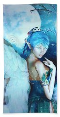 Winter Fairy In The Mist Beach Towel