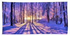 Winter Fairy Tale Beach Sheet