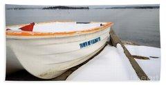 Winter, Falmouth, Maine  -18674 Beach Towel