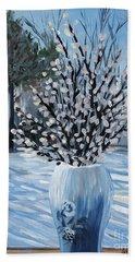Winter Floral Beach Towel