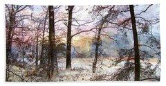 Winter Forest Beach Sheet