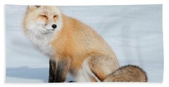 Winter Fox Beach Towel