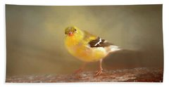 Winter Goldfinch Beach Sheet