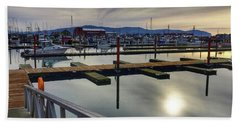 Beach Towel featuring the photograph Winter Harbor by Chriss Pagani