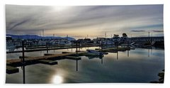 Beach Towel featuring the photograph Winter Harbor Revisited #mobilephotography by Chriss Pagani