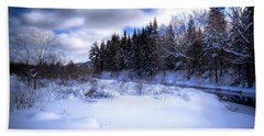Beach Towel featuring the photograph Winter Highlights by David Patterson
