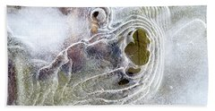 Beach Towel featuring the photograph Winter Ice by Christina Rollo