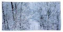 Winter Ice Storm Beach Sheet