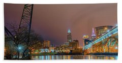 Winter In Cleveland, Ohio  Beach Towel