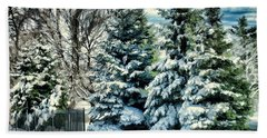 Winter In New England Beach Towel