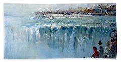 Winter In Niagara Falls Beach Towel