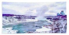 Winter In Niagara 1 Beach Sheet