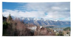 Winter In Queenstown Beach Towel