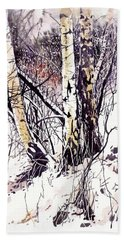 Winter In The Forest Beach Towel