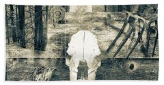 Winter In The In The Woods Beach Towel